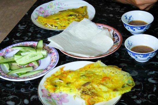 Jolie Villa Hoi An Homestay : Special breakfast for us :)