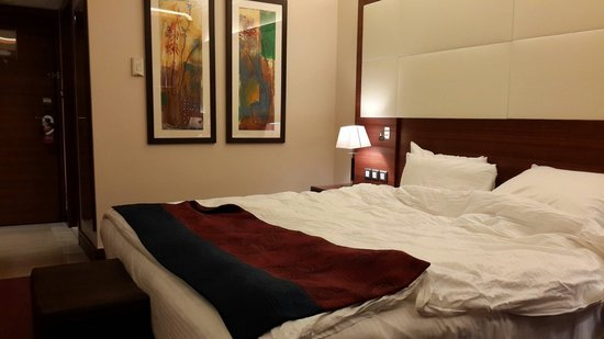 Crowne Plaza Hotel Amman : Standard guestroom with good bedding.