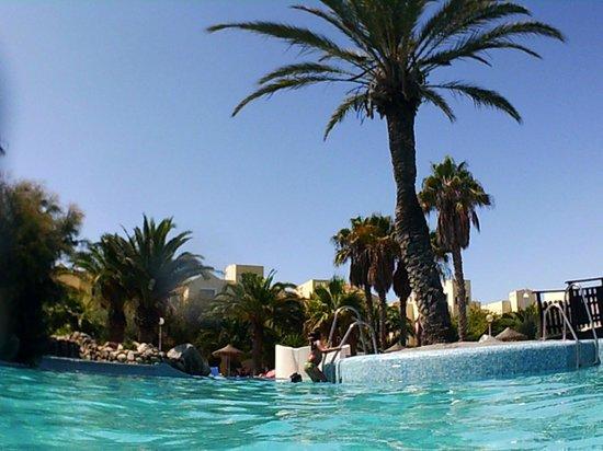 Apartamentos Moguima: vista desde el interior de la piscina