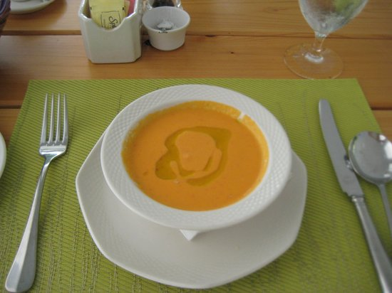 Montpelier Plantation & Beach : This was a half portion of gazpacho