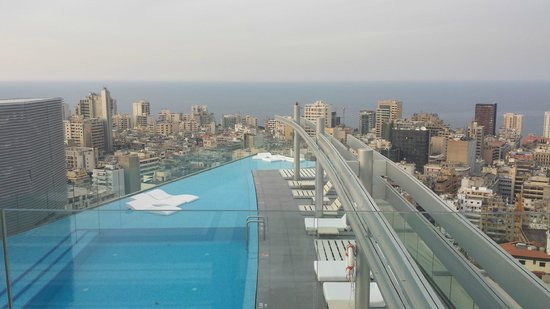 Staybridge Suites Beirut: Heavenly Views from the Pool area