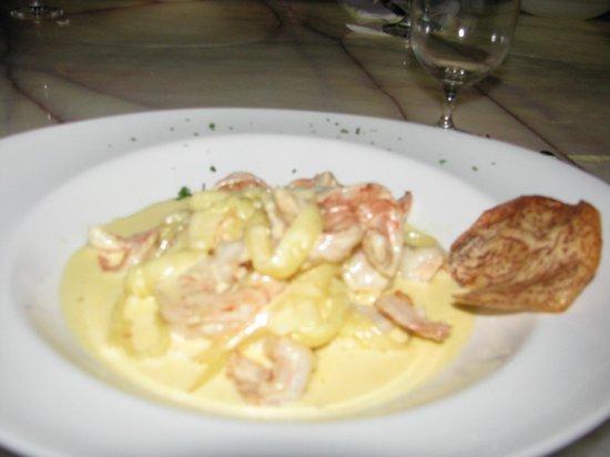 El Higuero : Pasta de yuca con salsa de camarones