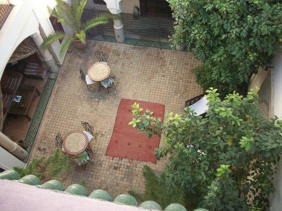 Riad Cannelle: cortile interno