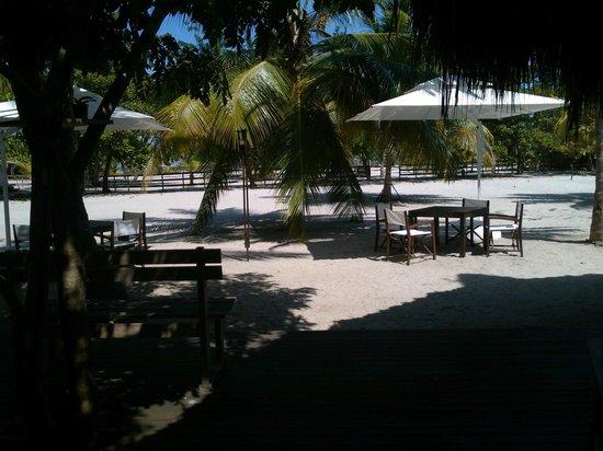 Merecumbe Hotel: vista del comedor y la cancha
