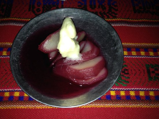 poached pears - Picture of Wayki Trek - Day Tours, Cusco - TripAdvisor