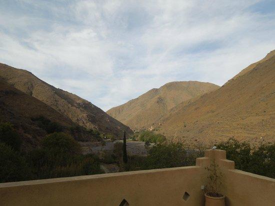 Les Terrasses de Toubkal Lodge : vue de la vallée