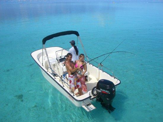 Lagoon fishing in the shallow waters of bora bora for Bora bora fish