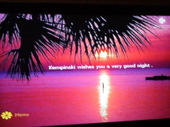 Message De Bonne Nuit Dans La Chambre Picture Of Kempinski