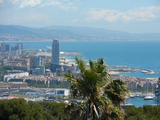 Exe Ramblas Boqueria : Vista de Barcelona, do Castelo de Montjuic