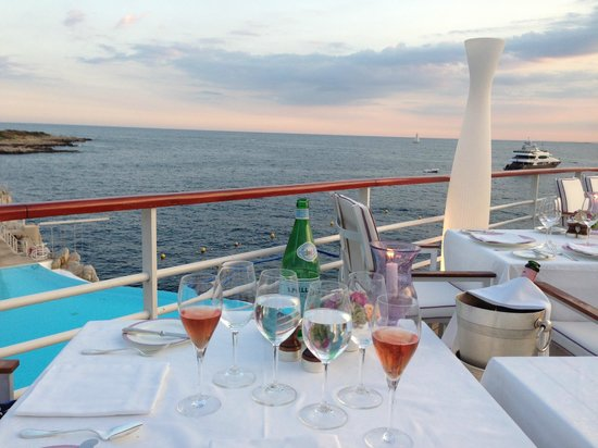 Hotel du Cap-Eden-Roc: Abendessen im Eden-Roc Restaurant