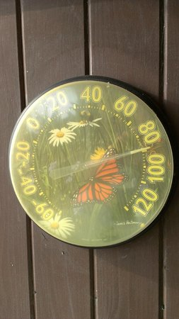 Hale Ho'ola B&B : Lovely temperature as recorded on our lanai