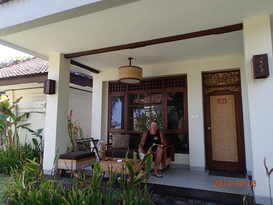 Rama Candidasa Resort & Spa: Outside our room