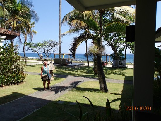 Rama Candidasa Resort & Spa: view from our room balcony