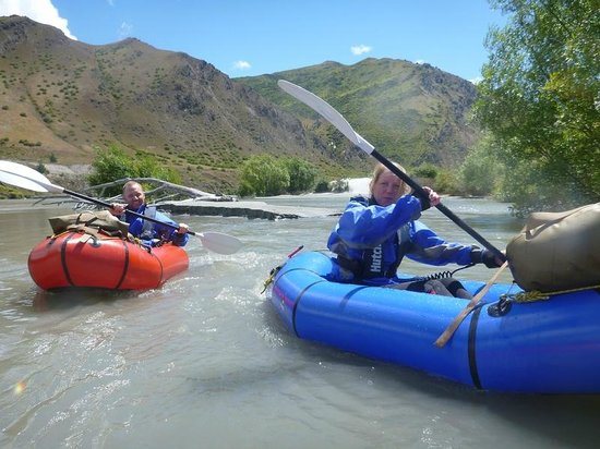 Expedition X - Packrafting New Zealand - Queenstown: In the packrafts