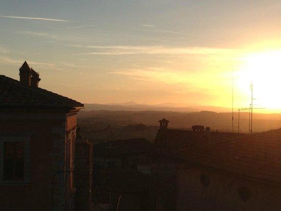 Castello delle Serre: the sun setting in tuscany.  Sitting at the hotel