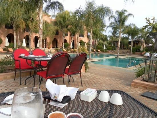 Palais Aziza & Spa: breakfast terrace