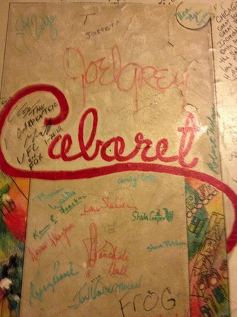 The Chicago Theatre: The signature wall with Joel Gray's signature