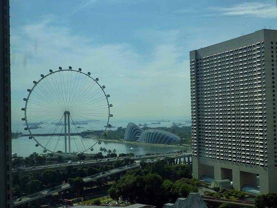 Conrad Centennial Singapore: Blick aus dem Zimmer auf den Flyer