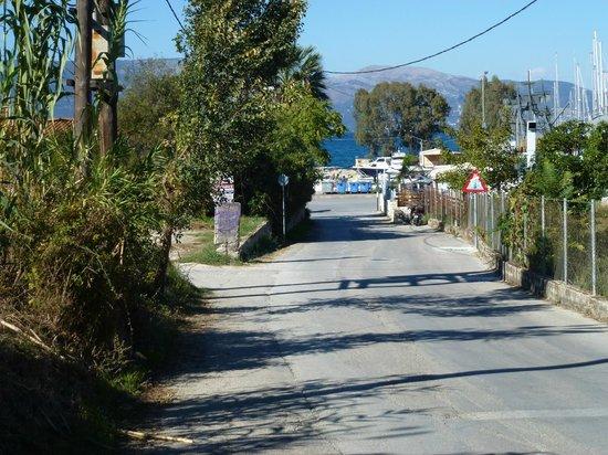 Corfu Mare Boutique Hotel: Walk downhill to the sea and main road