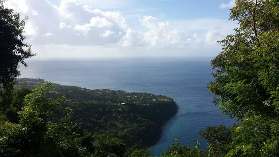 Pitons: View from the first quarter-point rest stop