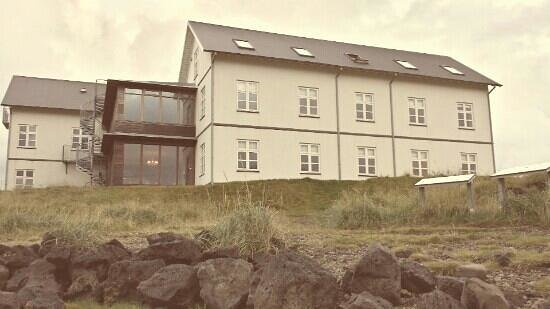 Budir, Iceland: view of the hotel exterior, charming country retreat