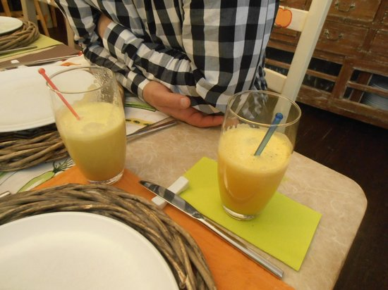 Carottes et Gingembre : Jus de fruits frais