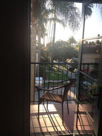 The Eagle Inn: our balcony