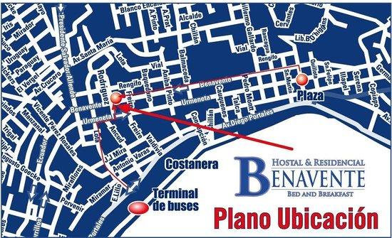 Hostal Benavente: mapa