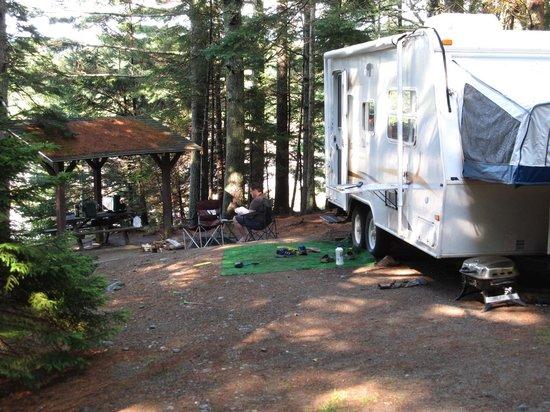 Maine: Cobscook campsite