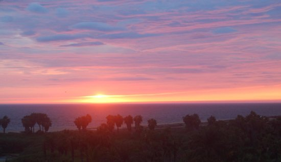 Los Colibris Casitas : Sunset from our house.