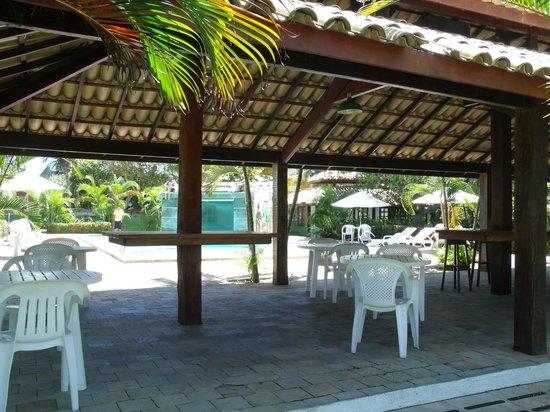 Hotel Quarup Praia : quincho y bar