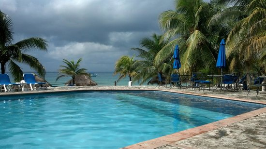 Nachi Cocom Beach Club & Water Sport Center: View of the pool - looking out to the beach