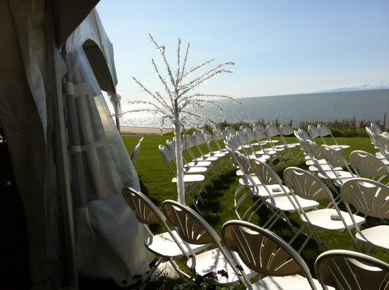 Alaskan Fishing Adventures Accommodation: View from the wedding area
