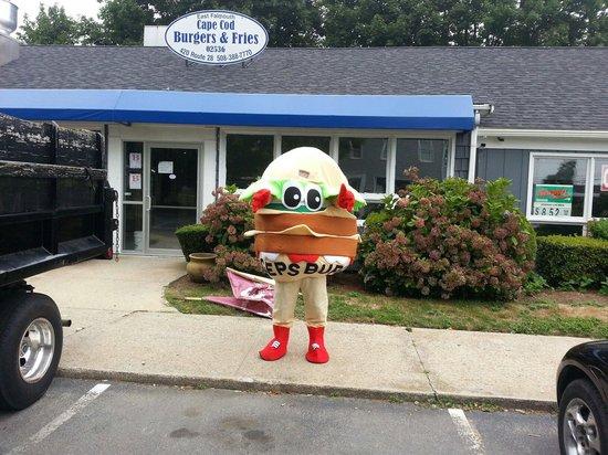Cape Cod Burgers And Fries: The Cape Cod Burger Mascot