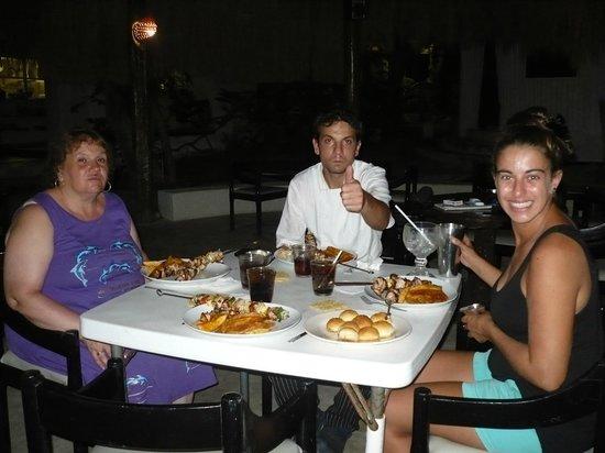 Maria's Kan-Kin: cenando con el cheff sebastian y su esposa agostina a los cuales habiamos invitado