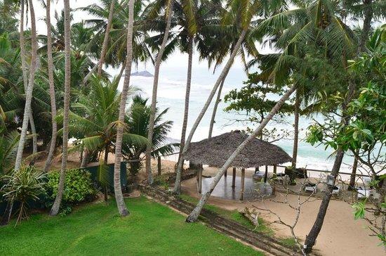 Sri Gemunu Beach Resort: Blick von unserem Balkon