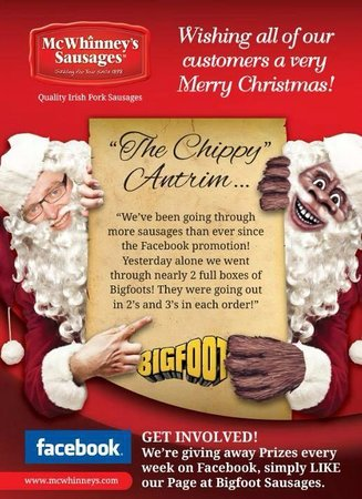 The Chippy: Big foot sausages poster