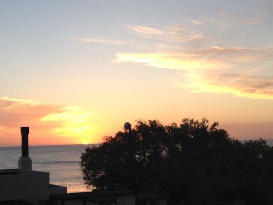 "Serena Hotel Punta del Este : Sunset from the ""sort of balcony"" of room 104"