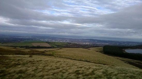 Pentland Hills Trekking Center - Tours: Top of the Hill view of Edinburgh