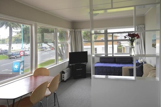 Westhaven Motel: Front units have great views of Pilot Bay and Mt Maunganui