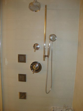 Hotel32 at Monte Carlo: Great Shower - 3 Wall spouts, 1 regular spout, 1 hand wand spout