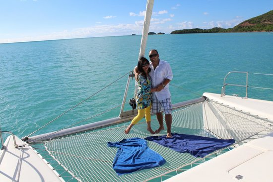 Tropical Catamaran Sailing Day Tours: Posing for some pics on the Cat Tales II