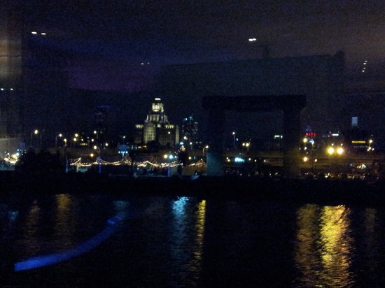 Spirit of Philadelphia: the view on the dinner cruise