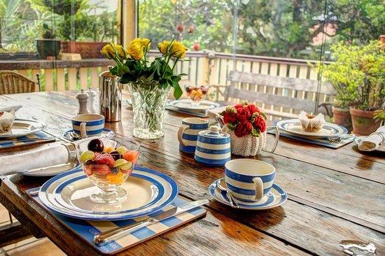 Number 12: Enjoying Breakfast on the rear deck