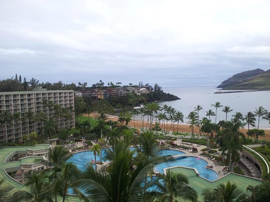 Kaua'i Marriott Resort: Picture perfect resort and ocean view from room