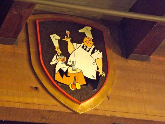 Pea Soup Andersen's : Pee-Wee and Hap-Pea on an escutcheon,