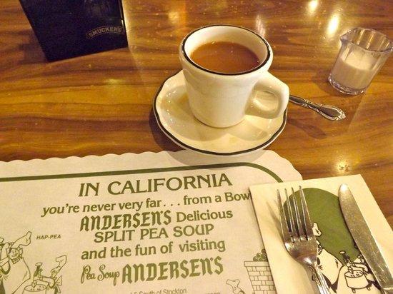 Pea Soup Andersen's : Coffee in California.