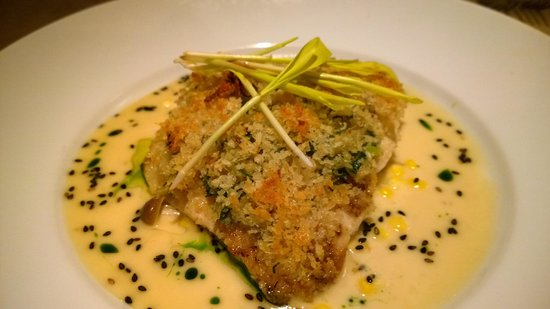 Alan Wong's Amasia: Ginger Crusted Onaga