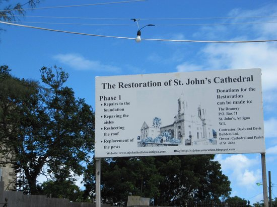Cathedral of St. John the Divine: Renovation Sign