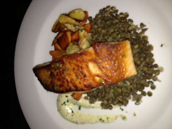 The Farm Table : Salmon with lentils and autumn vegetables